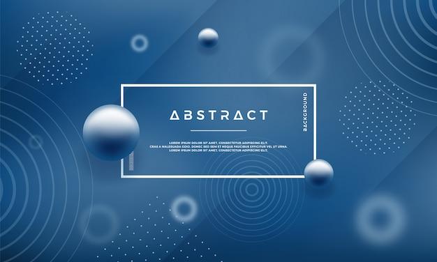 青い色の抽象的なメンフィススタイルデザインの背景