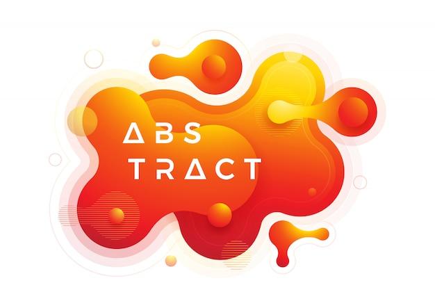 オレンジ色の液体勾配のデザイン要素
