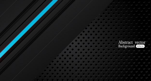 Абстрактный металлический синий черный дизайн рамы
