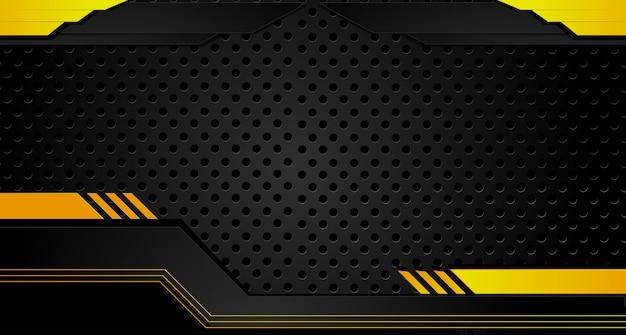 抽象的なメタリックイエローオレンジブラックフレームデザインイノベーションコンセプトレイアウトの背景