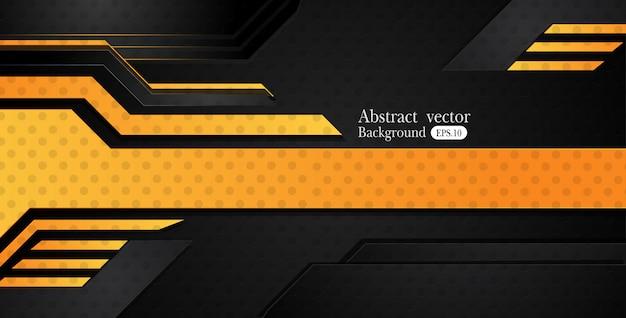 オレンジ色の黄色と黒の抽象的なビジネスの背景
