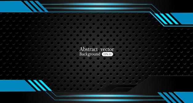 Абстрактный металлический синий черный каркас дизайн инновационной концепции макет фона