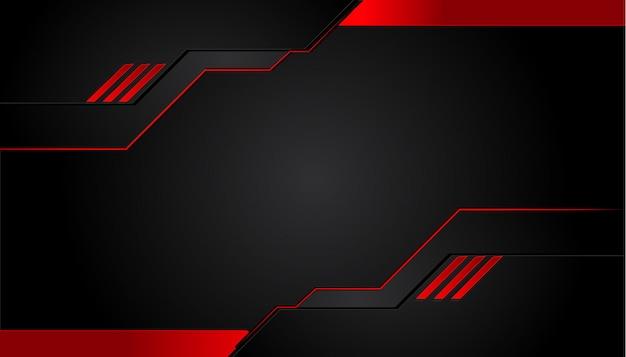 Черный и красный металлический фон
