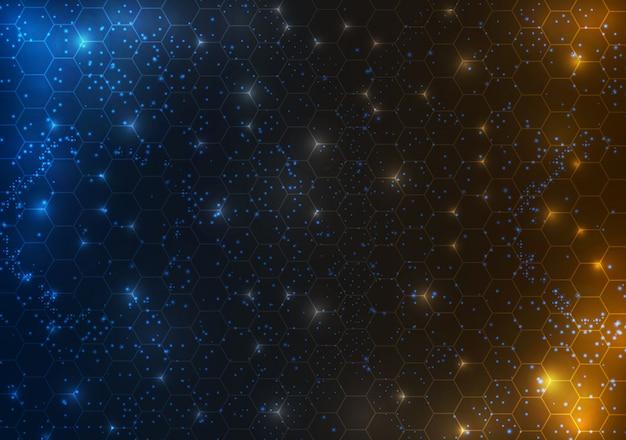 Абстрактный круг научно-фантастической футуристической технологии инновационной концепции фон
