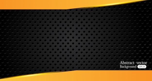 Оранжевый желтый и черный аннотация бизнес фон