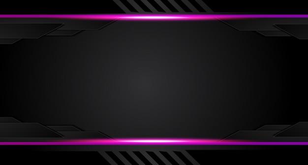 抽象的なグラフィックのパンフレットのデザインの背景紫と黒。