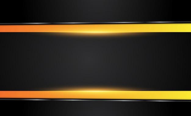 オレンジ色の黄色と黒の抽象的なビジネスの背景。