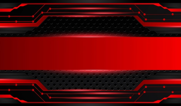 Абстрактный металлический красный черный фон