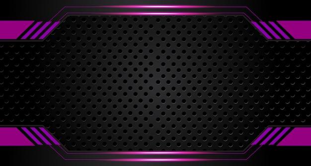 抽象的なベクトルグラフィックのパンフレットのデザインの背景パープルとブラック