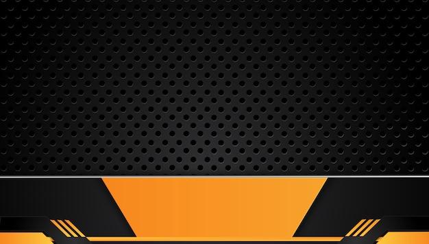 Оранжевый и черный аннотация бизнес фон