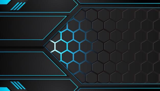 青と黒の抽象的なビジネスの背景