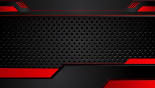 Абстрактный металлический красный черный фон с контрастными полосами.