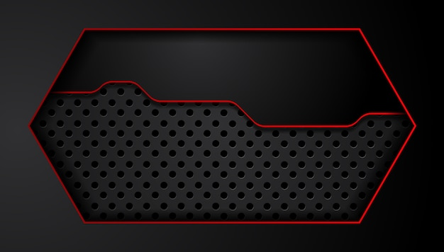 赤黒の抽象的なメタリックフレームレイアウトデザイン技術革新コンセプトの背景