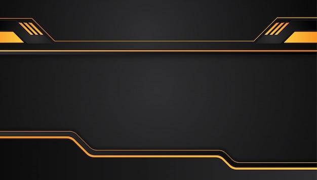 Оранжевый желтый и черный абстрактный металлический каркас макет технологий инновационной концепции фон