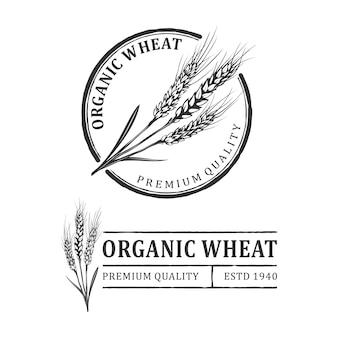 小麦のヴィンテージロゴ