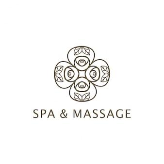 Спа и массаж дизайн логотипа