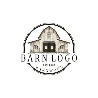 納屋用木材のロゴデザイン