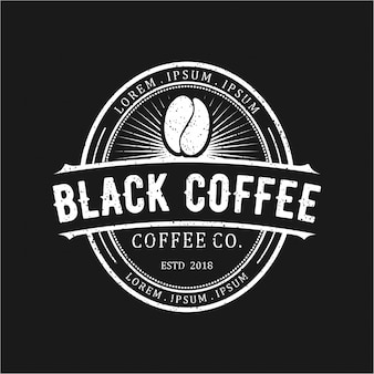 ブラックコーヒーヴィンテージロゴ