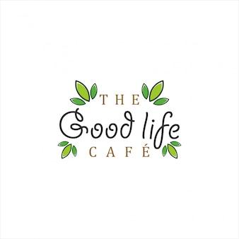 良い人生のカフェティーまたはコーヒー