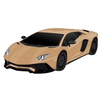 Быстрая векторная иллюстрация автомобиля, изолированных на белом фоне редактируемый формат
