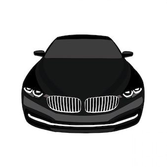 Автомобильная выставка векторных иллюстраций легко редактируется и изменяет размер