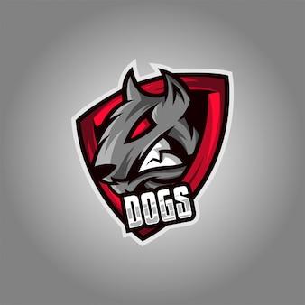 Логотип собаки киберспорт