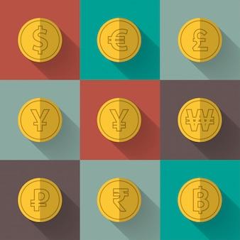 Набор золотых монет
