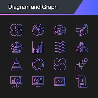 図とグラフのアイコン。