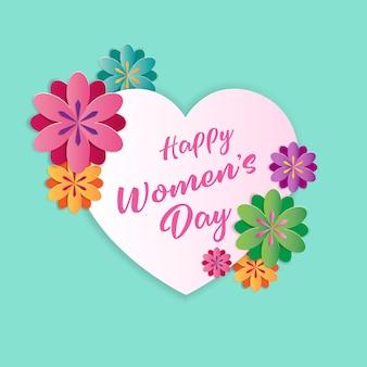 幸せな女性の日グリーティングカード