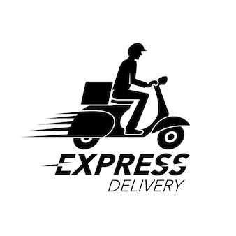 Концепция значка экспресс-доставки
