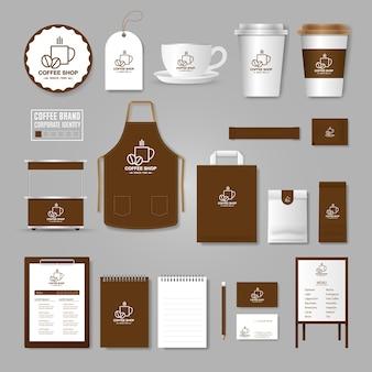 Фирменный стиль. концепция логотипа для кафе, кафе, ресторана.