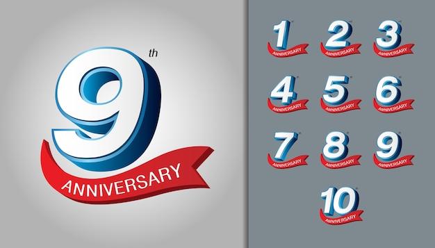 記念日のロゴのセット
