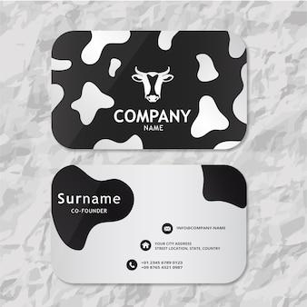 Корова визитная карточка