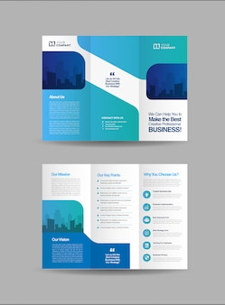 Шаблон брошюры бизнес тройной