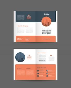 Деловой двойной дизайн брошюры