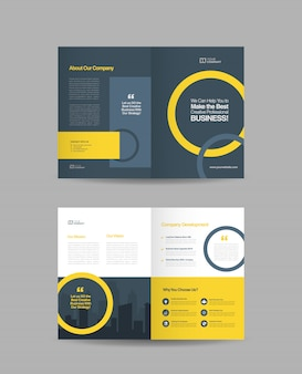 Двойной дизайн брошюры