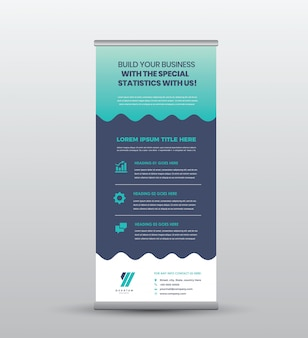 ビジネスロール立つバナー&ポスターデザイン