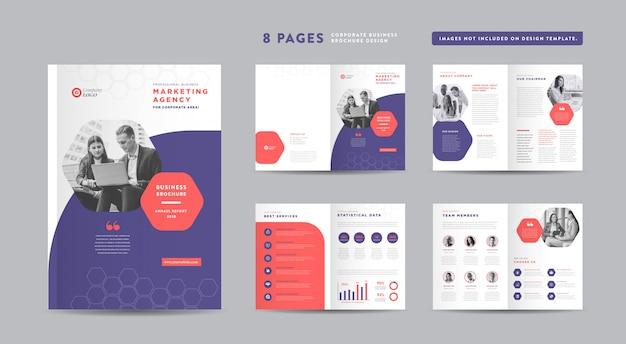 Корпоративный бизнес брошюра дизайн   годовой отчет и профиль компании   шаблон оформления буклета и каталога