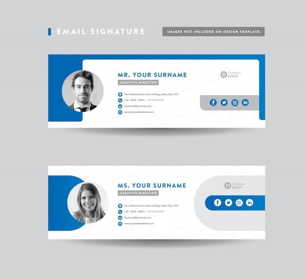 Электронная почта подпись шаблонов дизайна | нижний колонтитул электронной почты | персональная социальная сеть