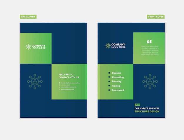 Шаблон оформления обложки бизнес брошюры