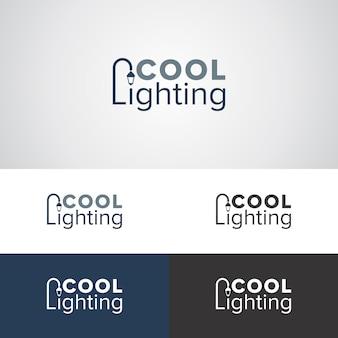 クールな照明のロゴデザインテンプレート