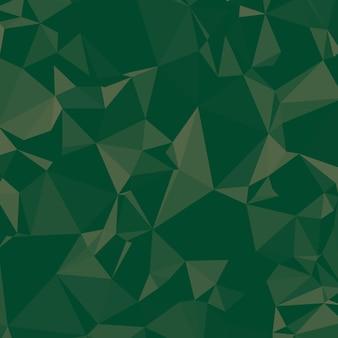 パインとエメラルドグリーントーンの光沢のある多角形の背景