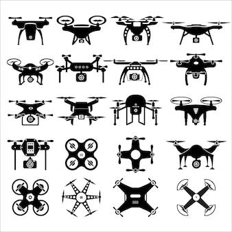 Векторный набор технологий дронов