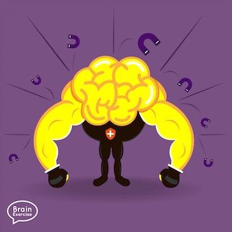 イラストコンセプト脳フィットネス