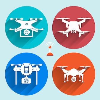 Векторный объект дроны