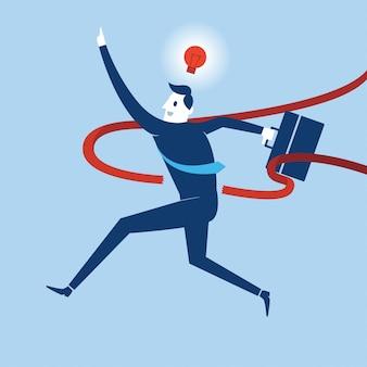 イラストビジネスマンアクションアクションのビジネスアクティビティ。