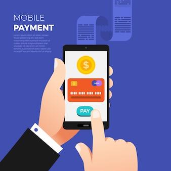 Плоский дизайн концепции оплаты. способ оплаты и вариант или канал для перевода денег. иллюстрировать.