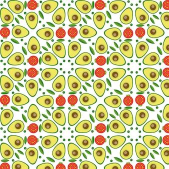 フラットスタイルのベクトル野菜シームレスパターン