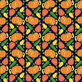 ベクトル野菜のシームレスなパターン
