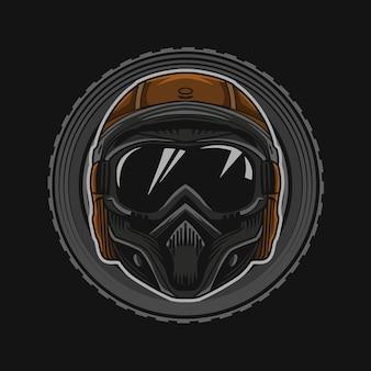 Мотоциклетный шлем векторная иллюстрация